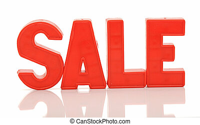 word sale on white background