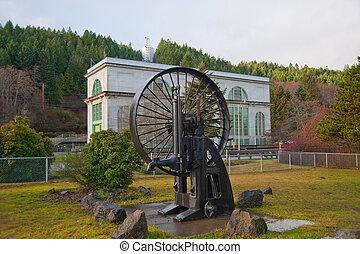 Hydroelectric flywheel - Old disused hydroelectric flywheel