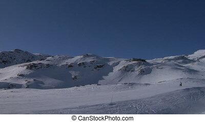 skier 04 - Skiers in Alps ski resort