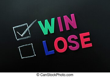 Win and lose check boxes