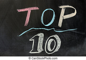 Top ten - Chalk drawing - Top ten