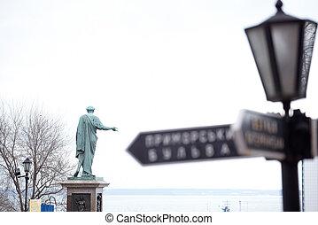 Odessa - City signal, Monument to Rishelie Dyuk, Odessa -...