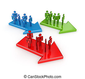 Teamwork concept. Isolated on white background.3d rendered.