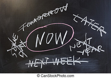 Do it now - Chalk drawing - Do it now