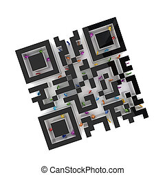 Labyrinth shape of QR code.