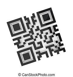 QR code. Isolated on white background. 3d rendered.