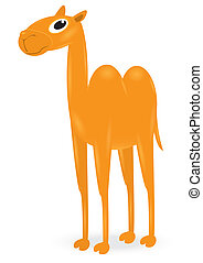 cartoon orange camel cute goof