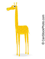 orange giraffe - orange cartoon vector giraffe