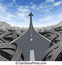 Success Path - Success path with a road to financial success...