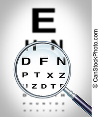 Human Eye Vision - Human eye vision chart and sight medical...