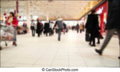mall - people in a mall