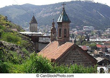 Ancient church in Tbilisi - Ancient armenian-georgian church...