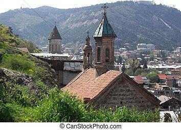 Ancient church in Tbilisi - Ancient armenian-georgian church...