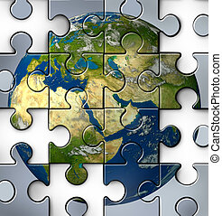 Middle East Crisis - Middle East crisis as a broken jigsaw...