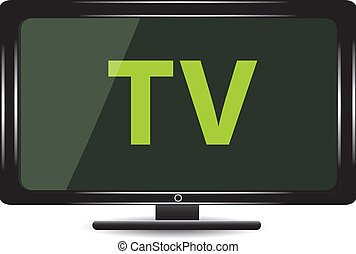 tv monitor - Lcd tv monitor vector TV widescreen...