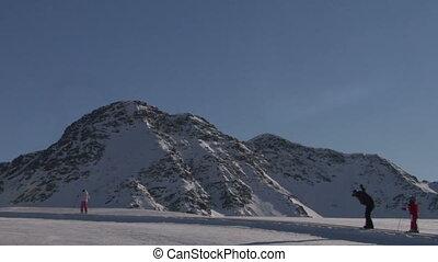 skier 08 - Winter, ski sun and fun - family in ski resort