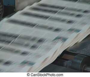 newspaper press printing