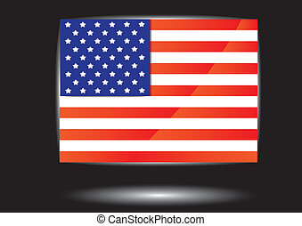 US Flag - USA. Vector US Flag