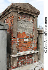 Old above-ground tomb in the historic St Louis Cemetery 1,...