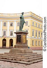 Monument to Rishelie Dyuk, Odessa - Ukraine