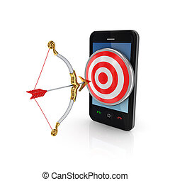 Target audience conceptIsolated on white background3d...