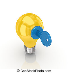 Intellectual property conceptIsolated on white background3d...