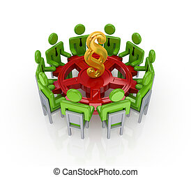 Business network conceptIsolated on white background3d...