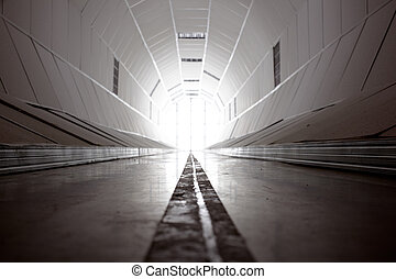 Tunnel - Photo of a white tunnel