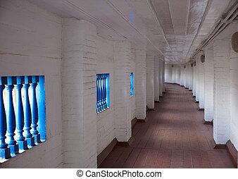 Corridor, Pechersk Lavra - Corridor of Pechersk Lavra, Kiev