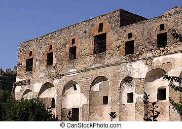 Two Storey Building in Pompeii - A two storey building in...