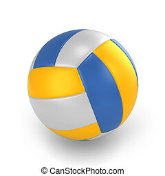 Volleyball - 3D Illustration of a Volleyball