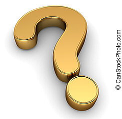 Question Mark - 3D Illustration of a Question Mark