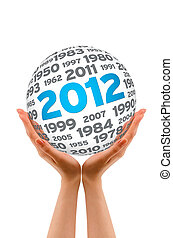 Hands holding a 2012 Sphere