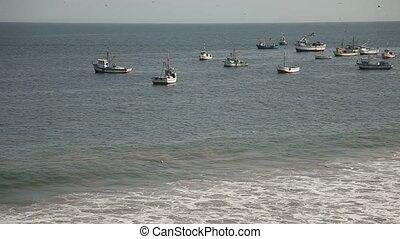 Fishing Boats At Coast
