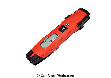 Laser distance meter on white background