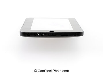 Tablet - Isolated tablet with blank screen on white...