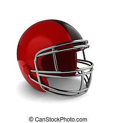 Football Helmet - 3D Illustration of a Footbal Helmet