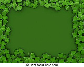 St Patricks Day Background - 3D llustration with a St...