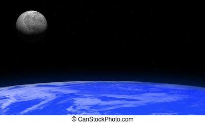 Rotating Earth and Moon