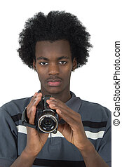 an African American film and photography with a camera black...