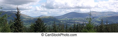 Keswick Panorama - Panoramic view of Keswick and surrounding...