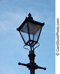 Old Street Light - Old-fashioned street light painted black...
