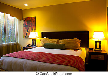 Hotel room - Interior of a modern luxury hotel room
