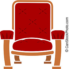 A Comfy Chair - Illustration of a comfortable red arm chair