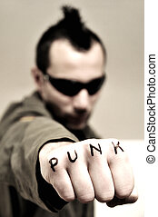 Punk guy, fist