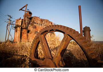 mining historical antique machinery - mining artifacts...
