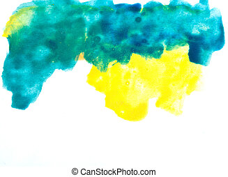 Colorful watercolor brush strokes