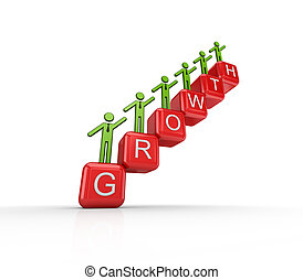 Growth concept. Isolated on white background.3d rendered.