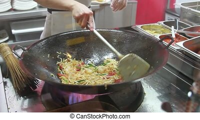 Fried Prawn Noodle in Singapore 1080p