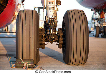 Airplane main landing gear - The main landing gear assembly...